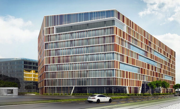 Liberty Office Budapest - architect's impression due to complete 2021