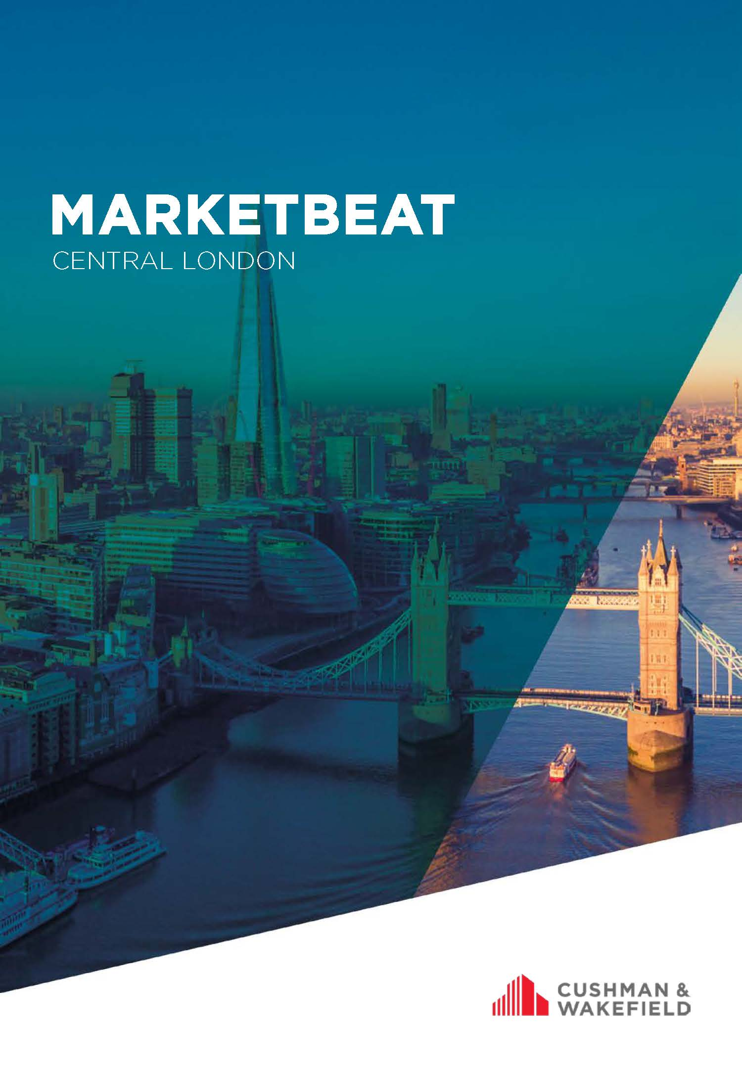 Central London Marketbeat cover aerial view of The Thames