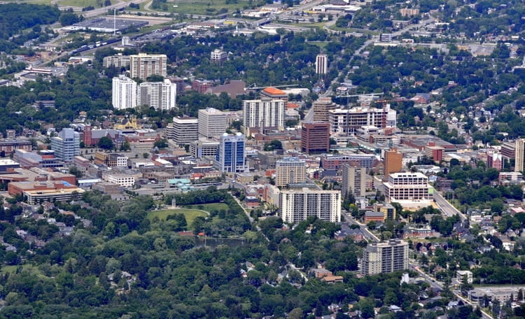 Waterloo Downtown Aerial