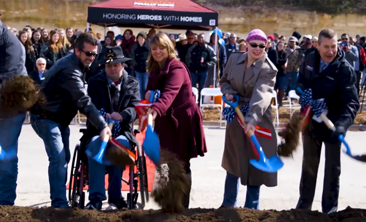 Operation Finally Home - Spears Home Groundbreaking