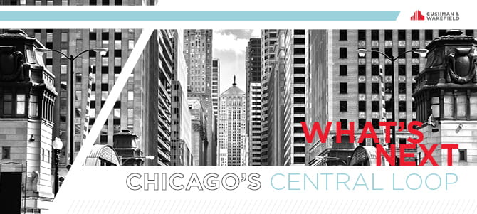 What's Next Chicago's Central Loop Banner