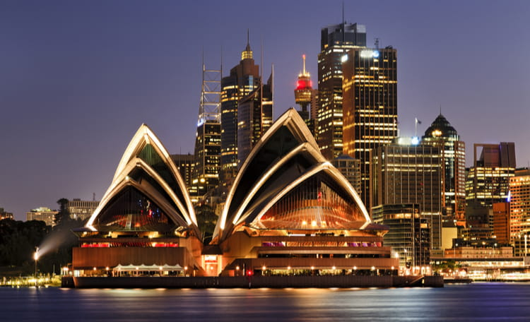 Sydney Opera House - source shutterstock