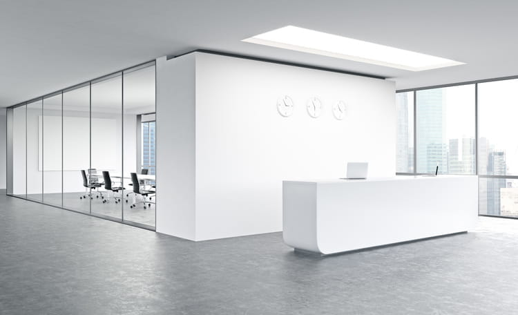 modern white empty office space